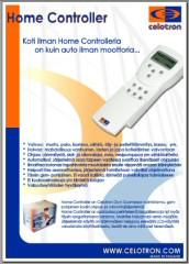 Home Controller on markkinoiden monipuolisin h�lytys, valvonta- ja GSM ohjaus j�rjestelm�. Miksi tyyty� Kiinalaiseen rihkamaan kun voit saada kotimaista huippu osaamista samaan hintaan !